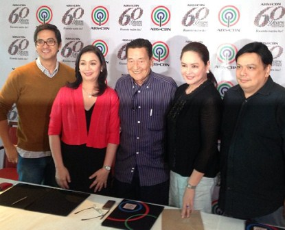 Eddie Garcia with ABS-CBN bosses Lauren Dyogi, Cory Vidanes, Charo Santos-Concio and Deo Endrinal during his contract signing