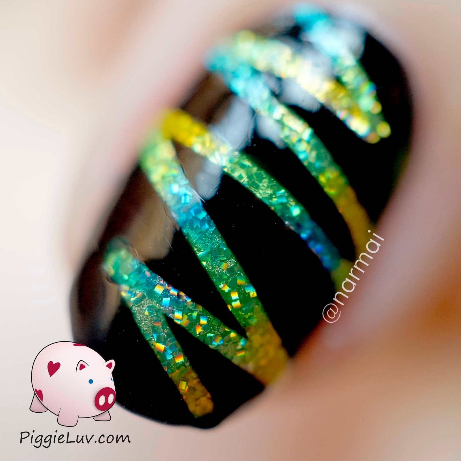 Piggieluv Glitter Lightning Nail Art With Opi Color Paints