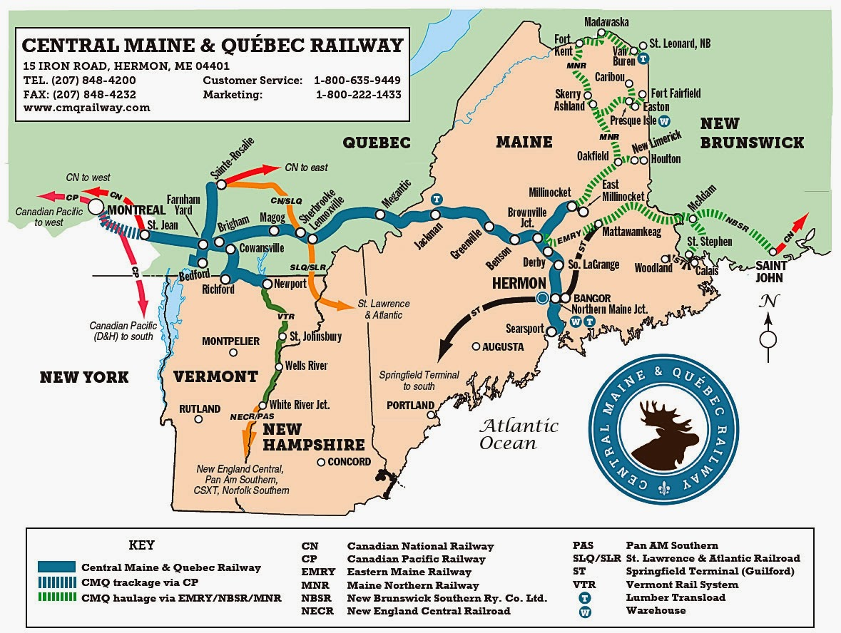 OilElectric Phoenix Rising Central Maine  Quebec Railway