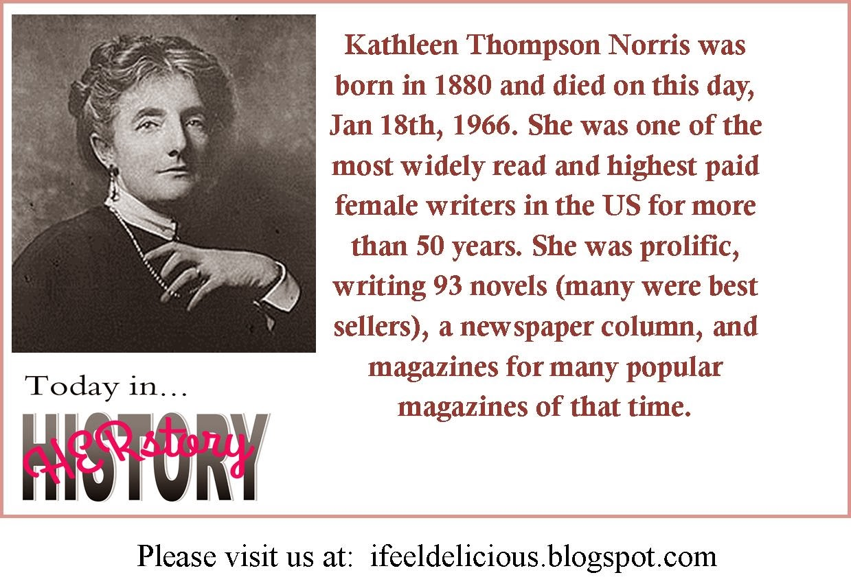 kathleen norris, female writers, women history, terri jean, caitlin seida, today in history