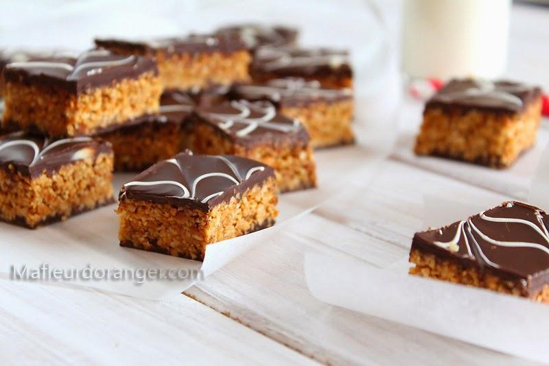 Petits gâteaux marbrés au chocolat et cacahuètes