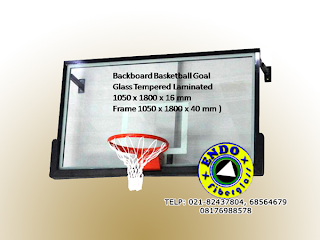 Papan basket transparant