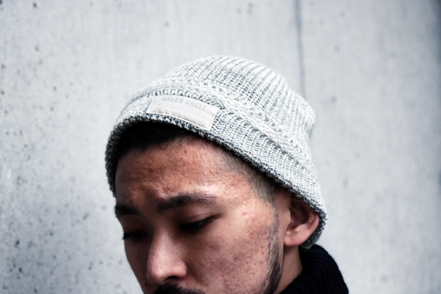 greenangle exclusive british wool knit cap madeinuk grey black navy ga 14fw グリーンアングル