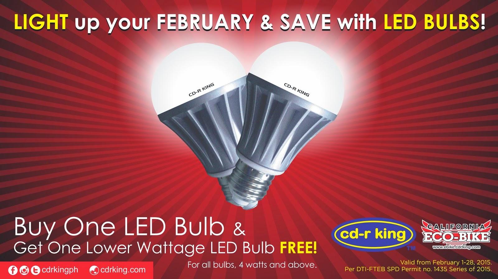 CD-R King LED Light Bulbs Buy One, Take One Promo