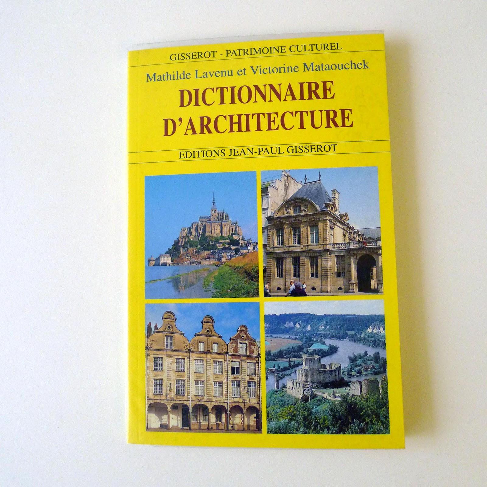 Vide dressing et petite brocante livre dictionnaire d for Dictionnaire architecture