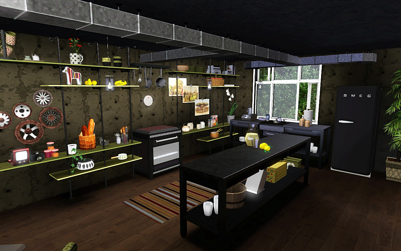 Wibs and the sims june 2011 for Sims 4 kitchen designs