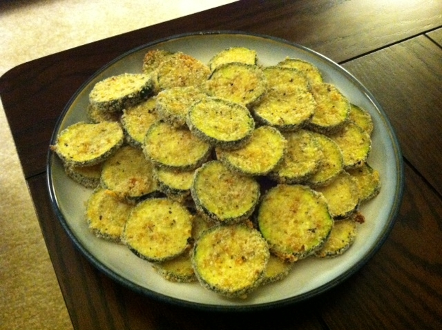 Newlywed and Newly Cooking: Baked Zucchini Chips