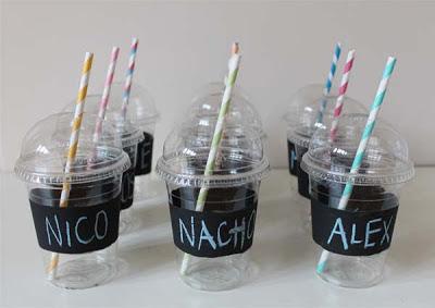 decorar vasos para un cumpleaños