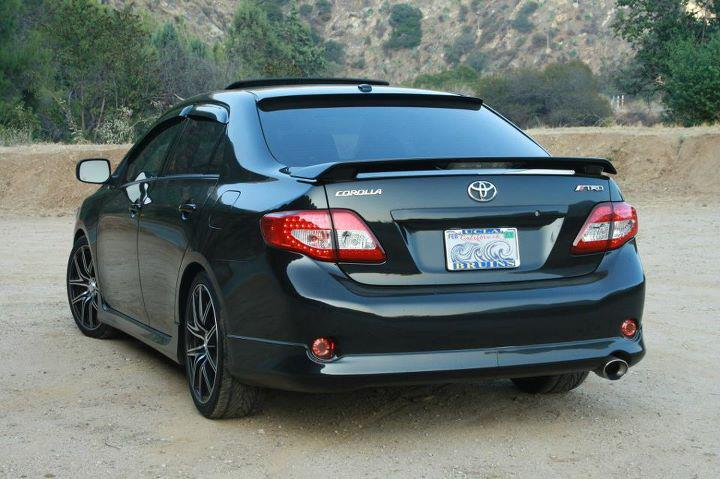 Black 2010 Toyota Corolla Modified Cars View