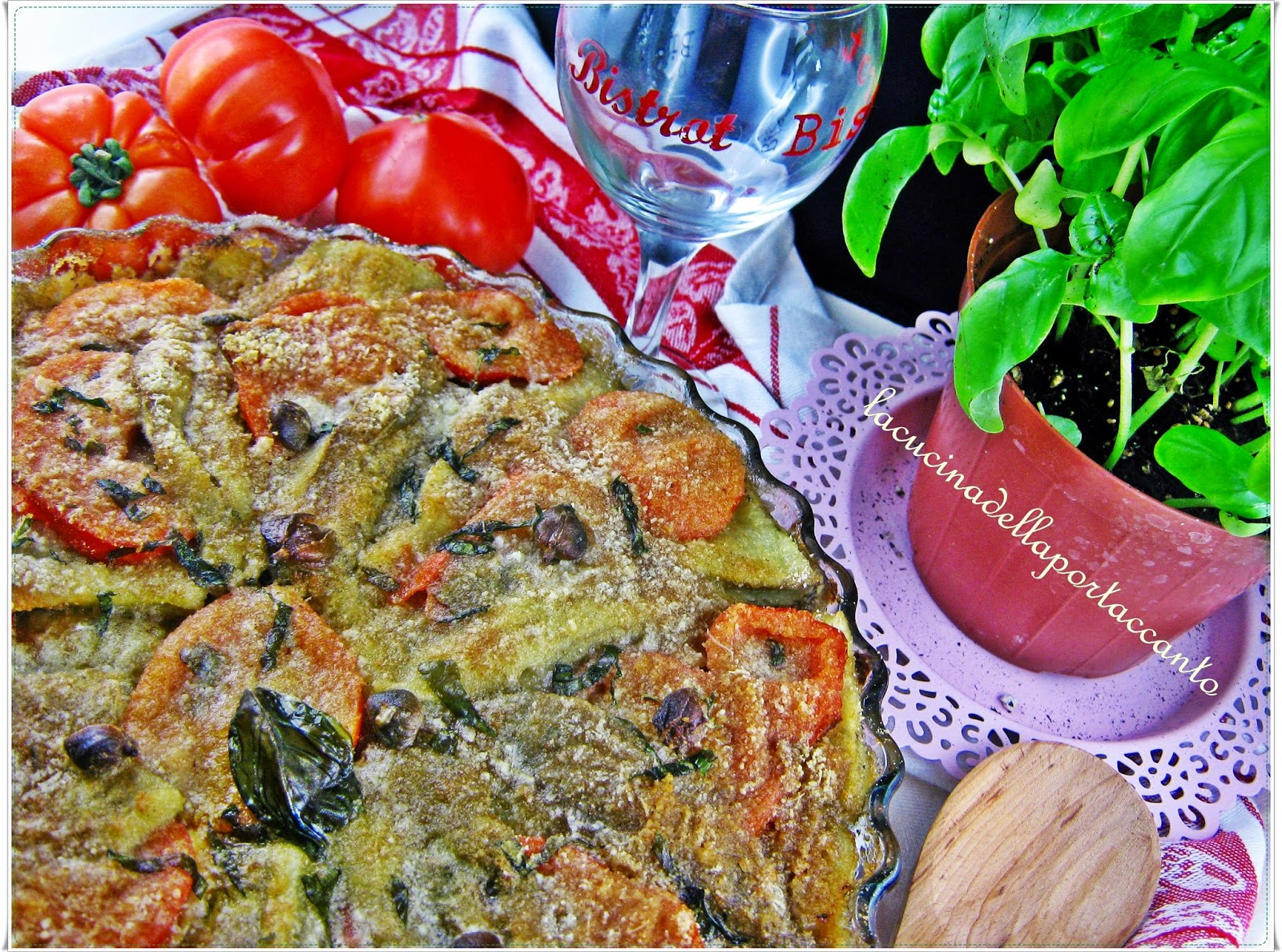 ... confit / Provencal baking dish confit of eggplant and tomatoes