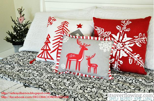Decorar Dormitorios para Navidad Bedroom Christmas by artesydisenos.blogspot.com