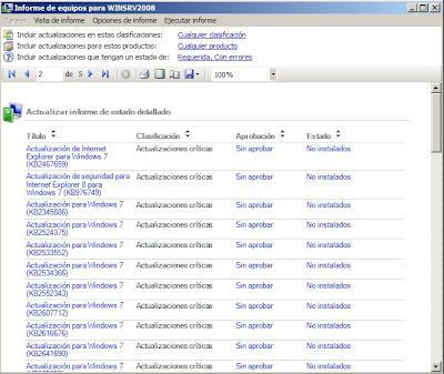 cerowarnings Servidor Actualizaciones WSUS server