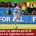 Messi y Di María meten a Argentina a cuartos