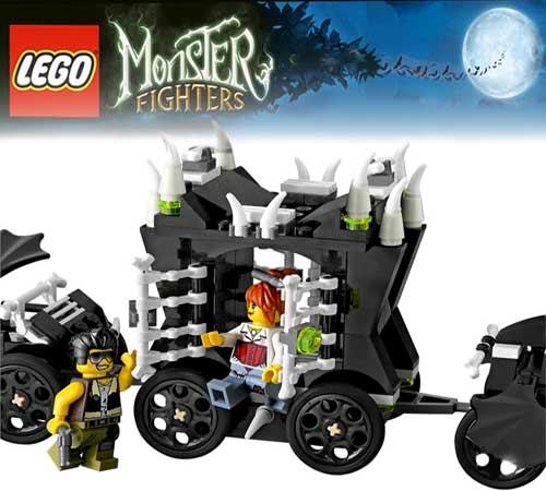 Unique Halloween train Lego brick set extensive glowing white skeleton bones numerous prickle pieces