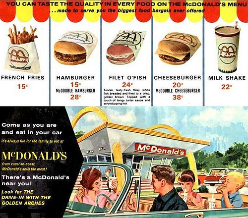 saved from the paper drive mcdonald s menu 1965