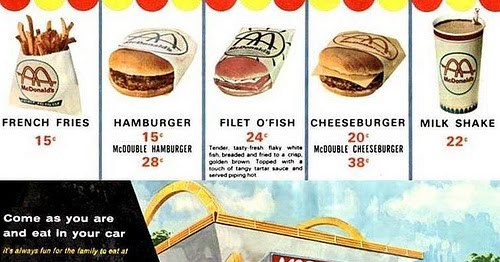 Saved From The Paper Drive: McDonald's Menu, 1965