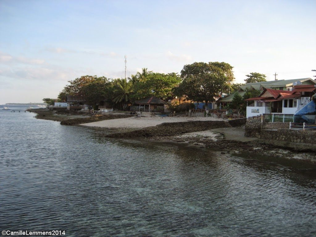 View on one side of Pangasama beach, Philippines