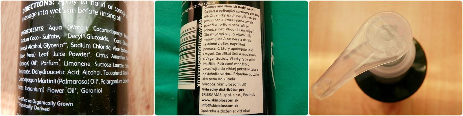 sprchový gel, recenze blogspot