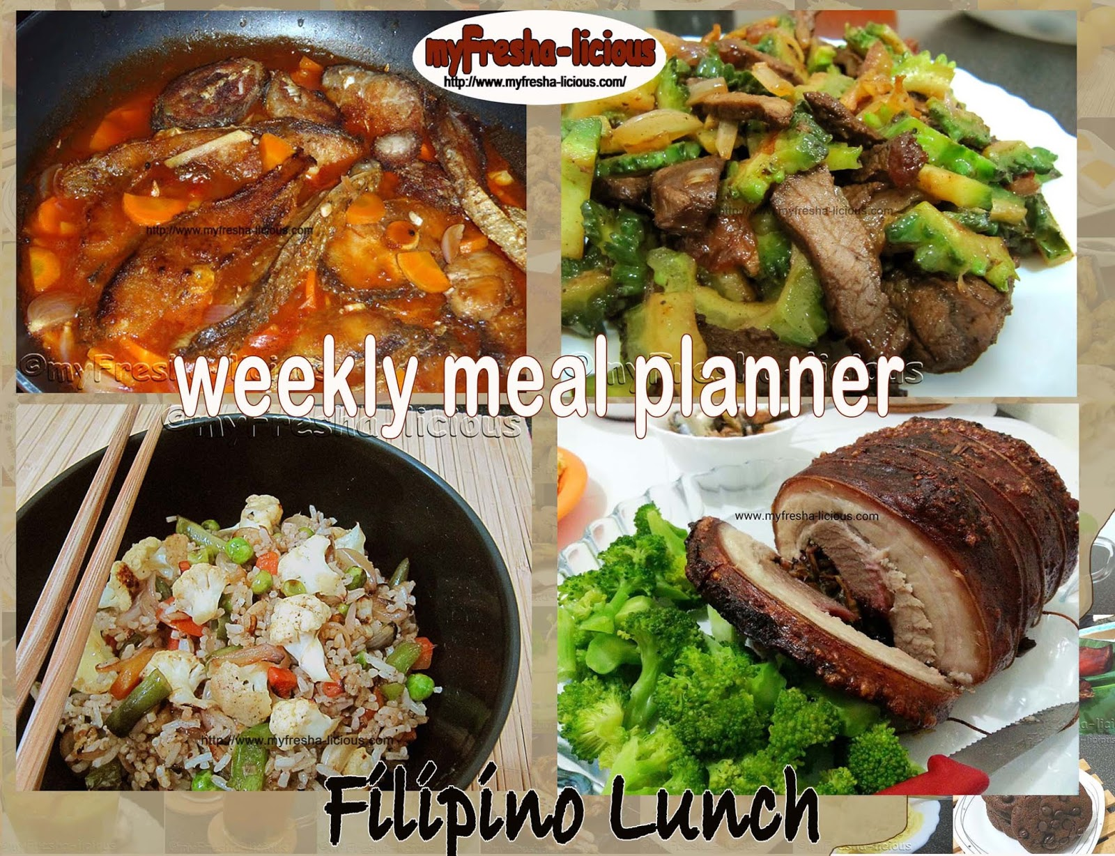 myFresha-licious: Weekly Meal Planner: Filipino Dishes for ...