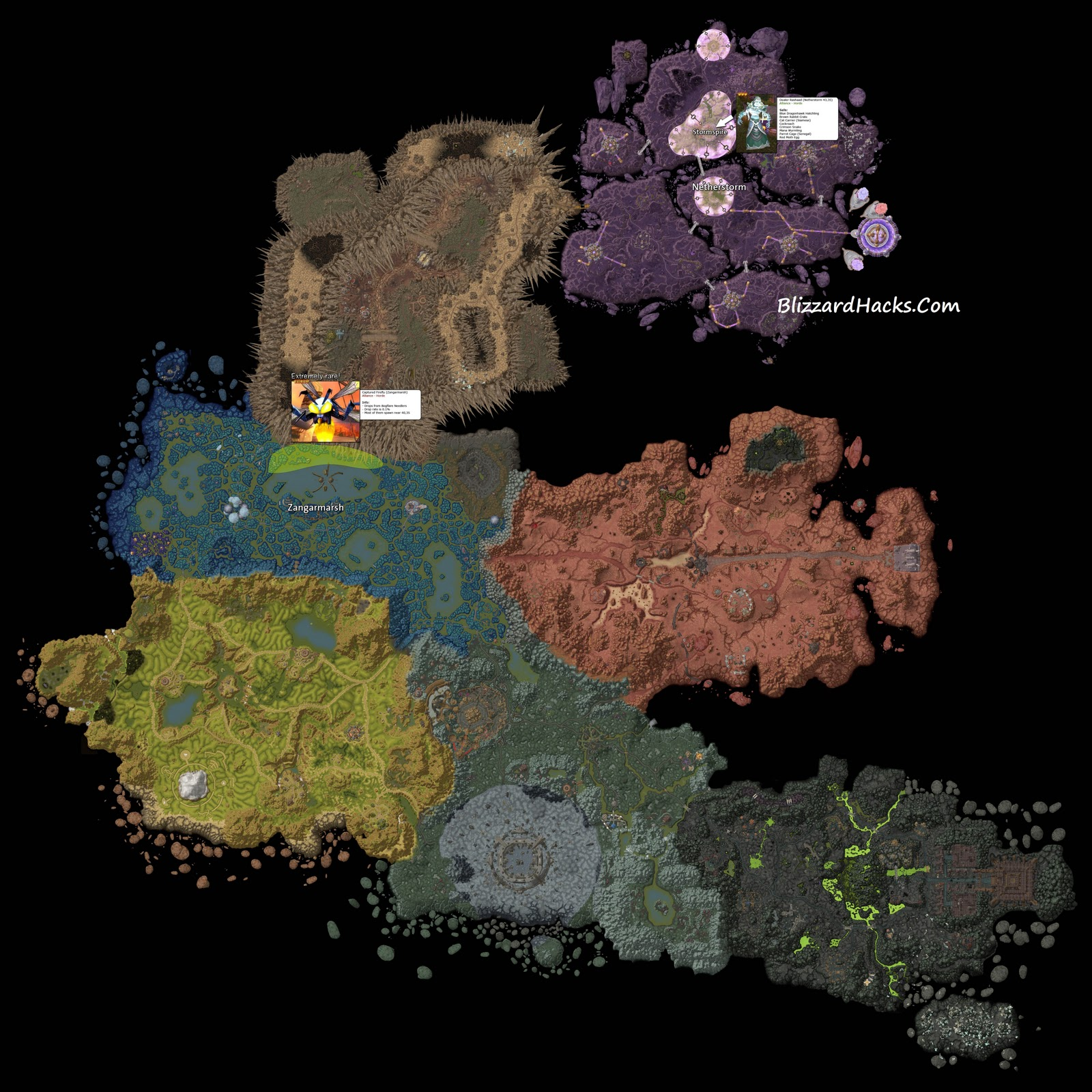 Vanity pets locations map where to find companions world of warcraft