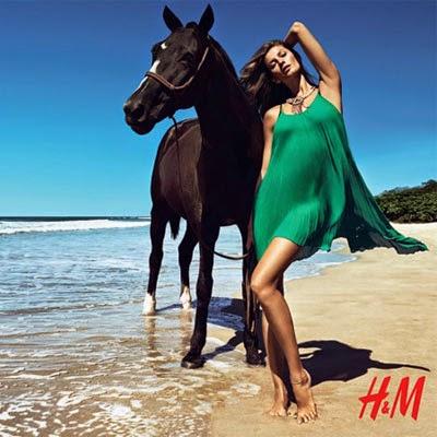 Gisele Bündchen para H&M coleção verão 2014
