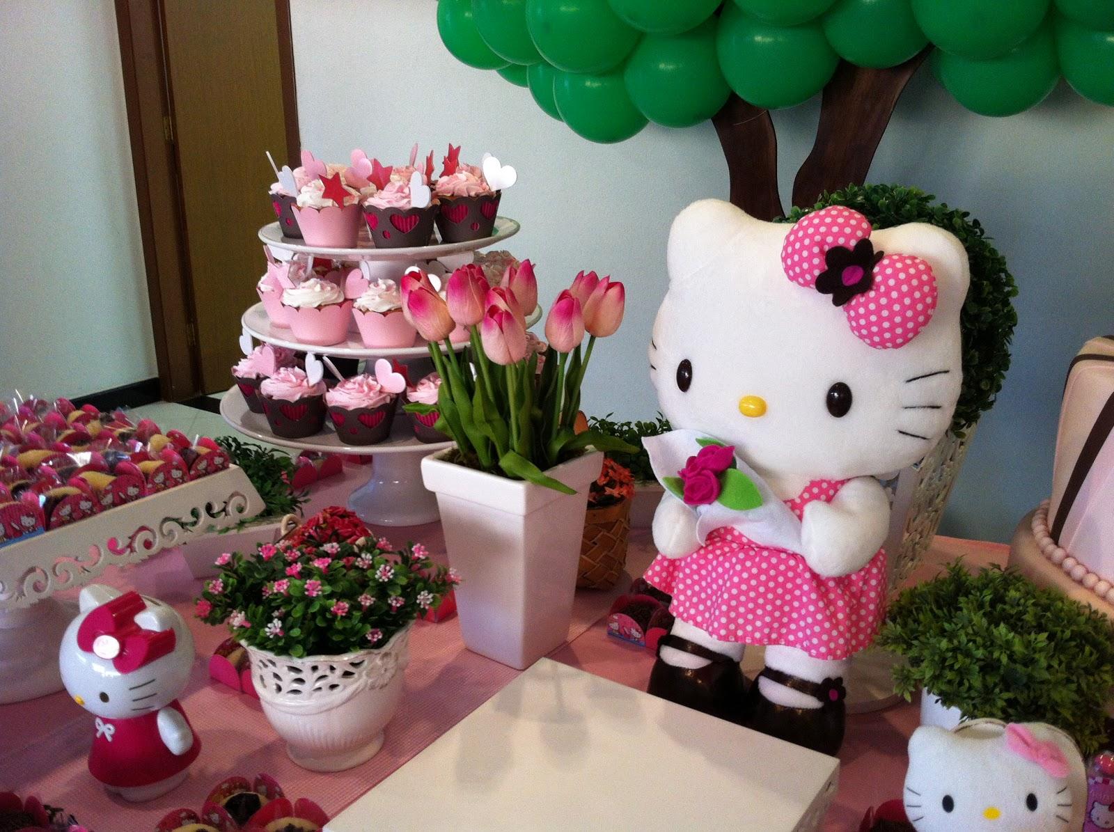 decoracao festa hello kitty:Decoração de Festa Infantil: Hello Kitty