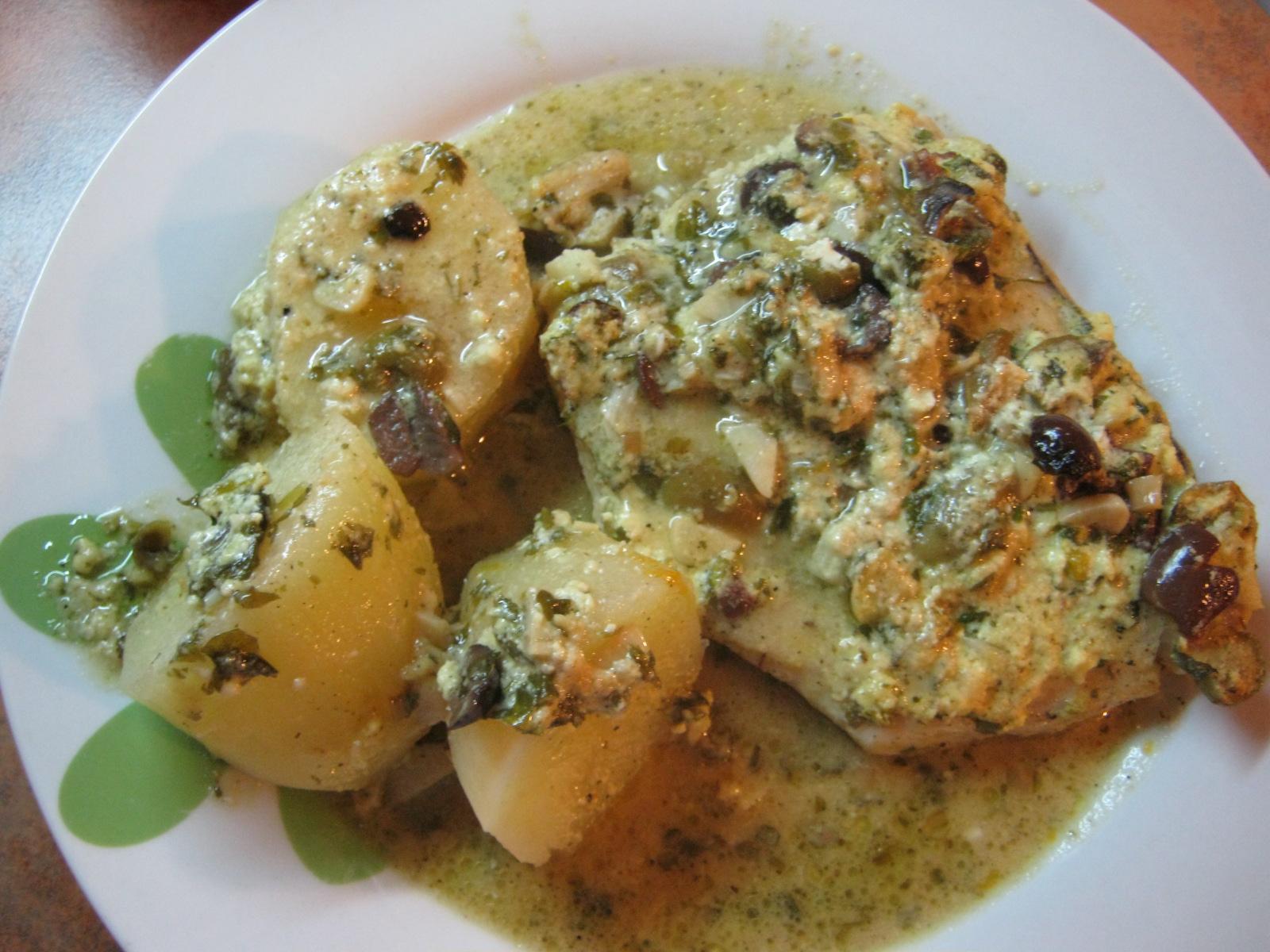 La negra cocina pescado al horno con salsa de queso light - Cocina al horno ...
