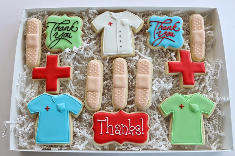 Jaclyn's Cookies: Medical-themed thank you gifts