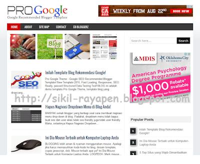 Pro Google Theme - Template Blog Rekomendasi Google