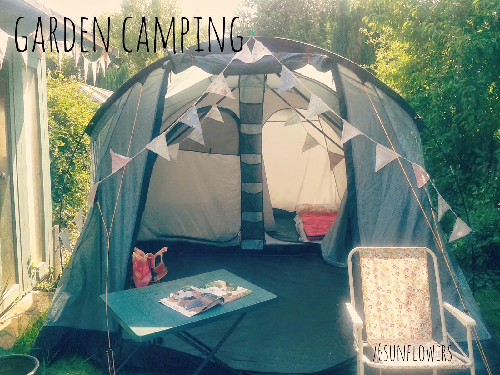 Garden camping // 76sunflowers
