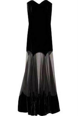 Alexander McQueen Strapless velvet gown