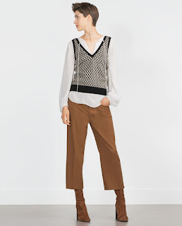 Zara Straight Cropped Trousers