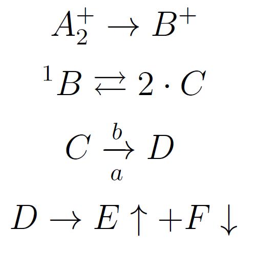 Aprendiendo LaTeX Reacciones qumicas con LaTeX
