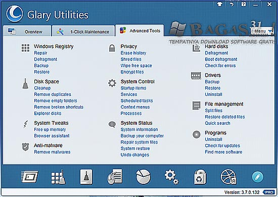 Glary Utilities Pro 3.7.0.132 Final Full Serial - BAGAS31.com