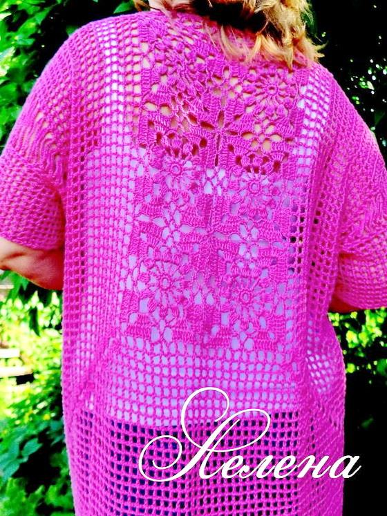 Crochet Sweaters: Crochet Cardigan Pattern - Summer Cardigan