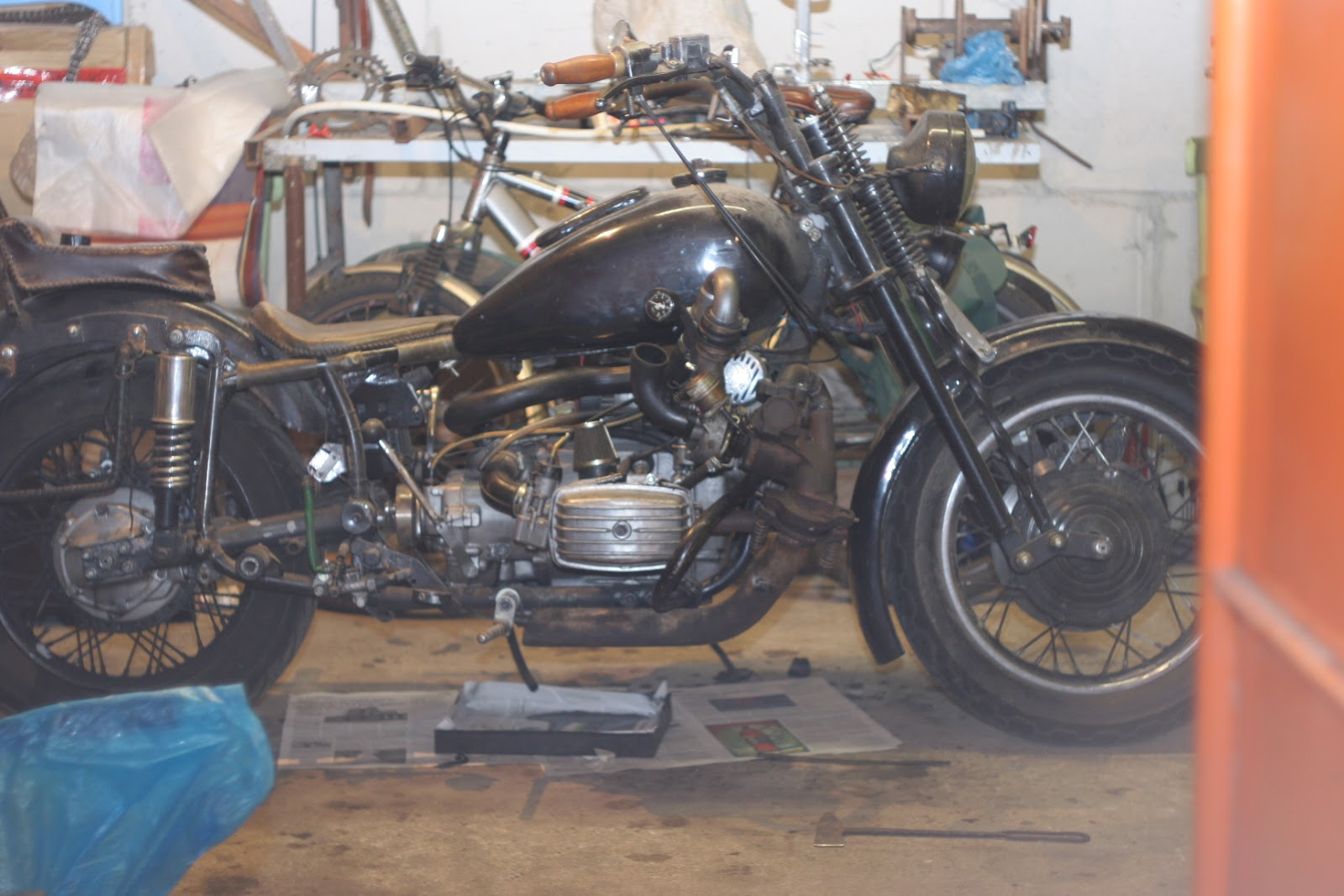 Gypsies Old School Bikes Things Hand Made Partsleather Craft Harley Motorcycle Engine Drawing Vquad And Method Financially Its More Expensive This Approach Blow Through Methods But By Of Draw Where The Carburetor Is Mounted Before Turbine