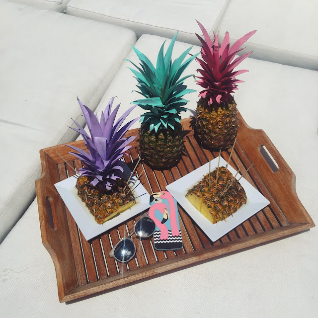 painted pineapples, pineapples for summer decorations, flamingo iphone case
