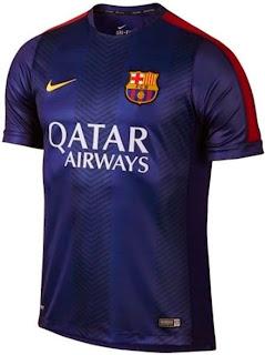 gambar jersey barcelona training warna biru, grade ori, jual jersey bola online, barca Prematch