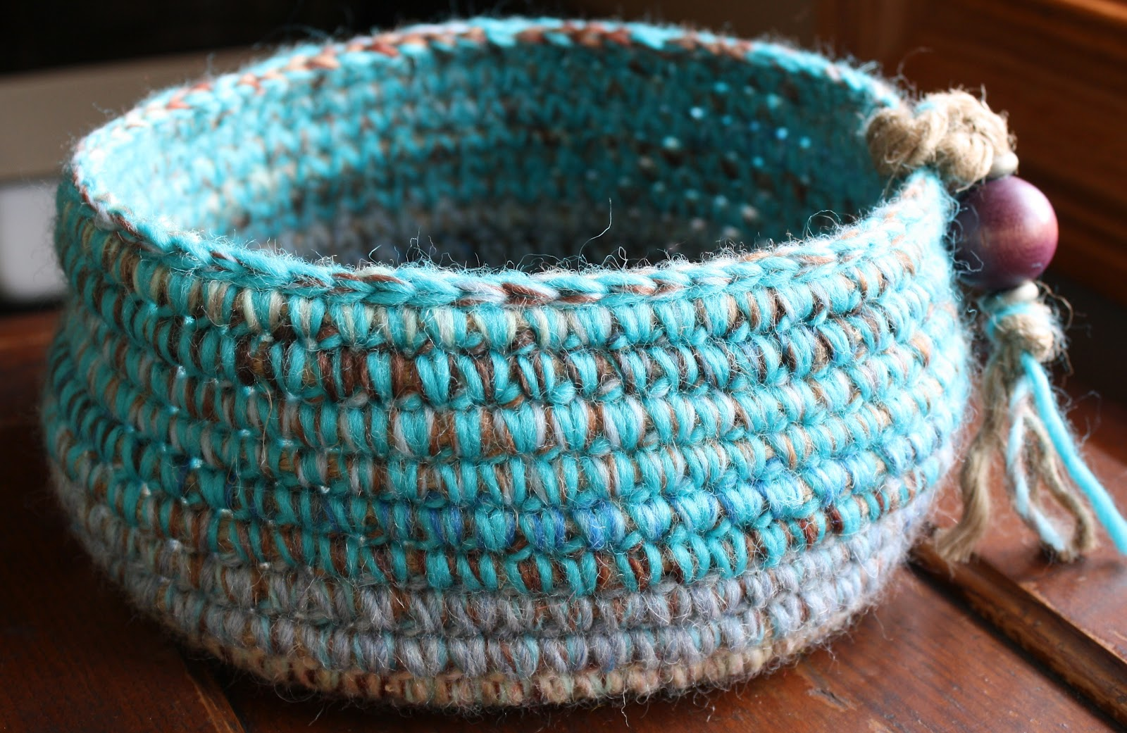 Crochet Rope Basket : Crocheted Baskets and A Wall Hanging