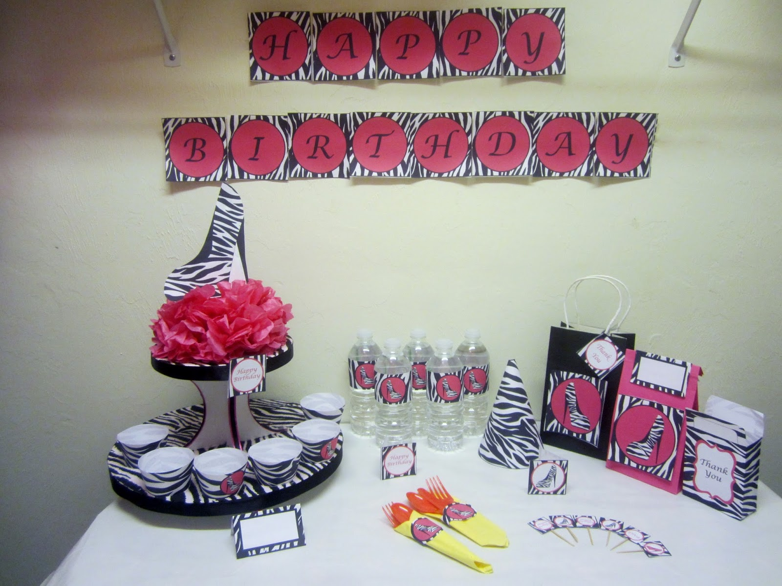 Diy party decorations sweet 16 party ideas diva hot for Home sweet home party decorations