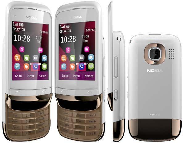 Cần bán điện thoại Nokia C2 03 2s2s nghe gọi, màn hình cảm ứng kết hợp bàn phím. Kiểu dáng đẹp. Nokia C2 03 điện thoại cảm ứng giá rẻ, có java edge 2.75 gprs lên mạng, facebook, zalo,... Nokia C2 gold white màu trắng vàng còn khá đẹp, máy hoạt động tốt, nghe gọi tốt, camera chụp ảnh nét, không lỗi lầm nhỏ.