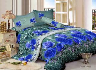 Sprei Kintakun Luxury Blue Rose