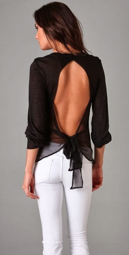 See More Chiffon Bow Tie Back Top For Women New Fashion