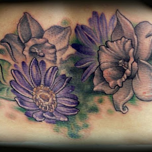 daffodil flower tattoos designs