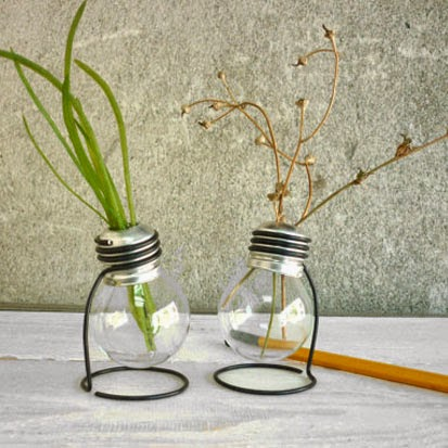 Ma Bicyclette: Buy Handmade | Christmas Gift Guide For Her - Recycled Lightbulb Vases