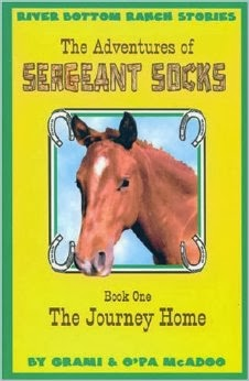 http://www.amazon.com/Adventures-Sergeant-Socks-Journey-Home/dp/0971435839/ref=sr_1_1?s=books&ie=UTF8&qid=1389386078&sr=1-1&keywords=Grami+O%27Pa+McAdoo