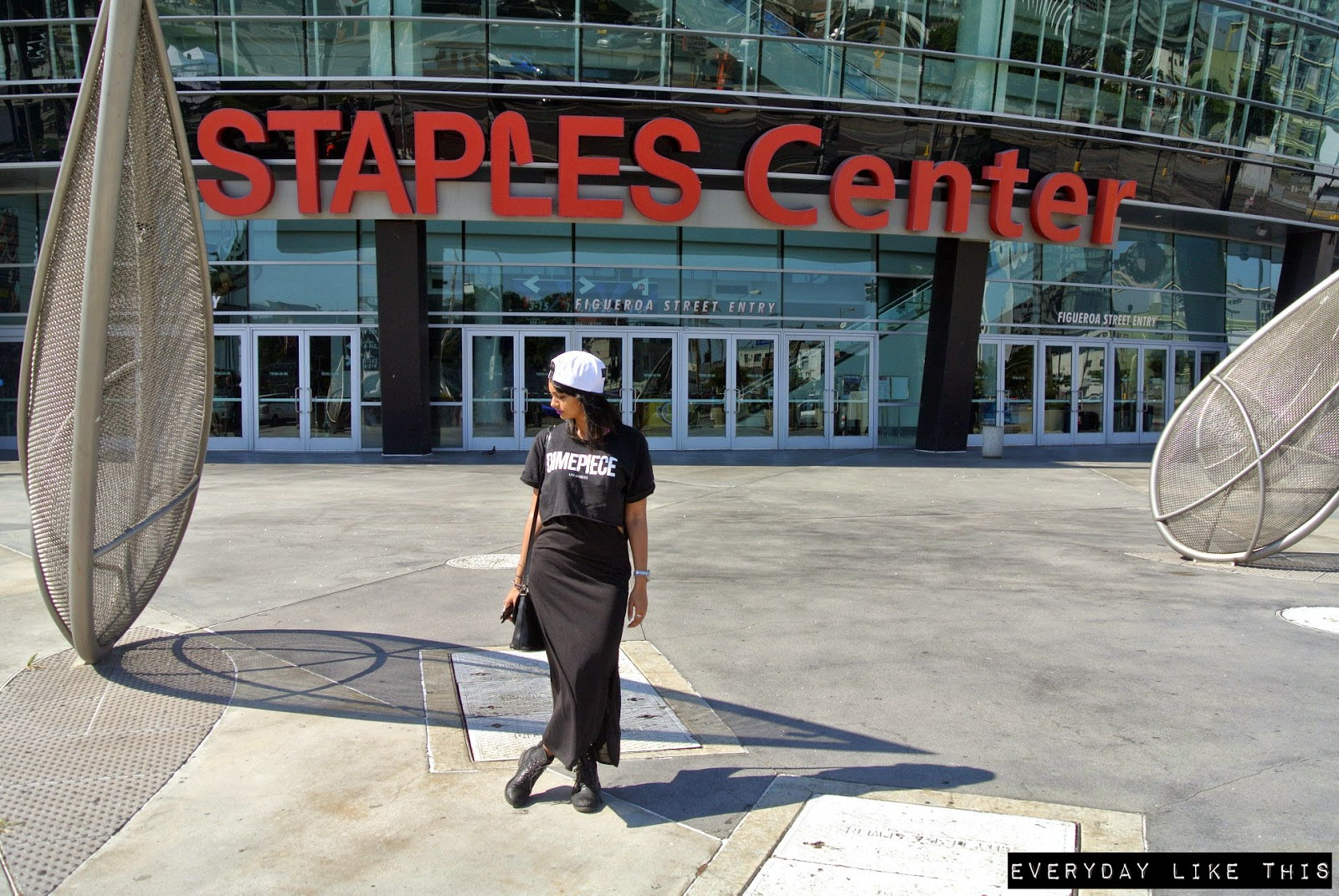 Staples Center LA lakers outfit shoot Travel diary Everyday Like This