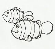 Desenho de peixe palhaço (nemo) para colorir
