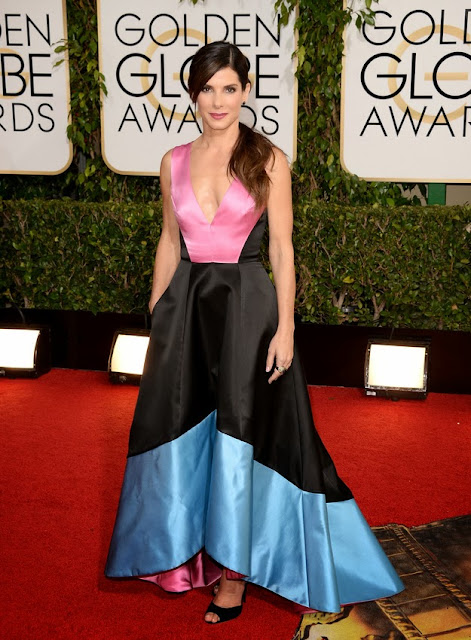 Sandra Bullock in Prabal Gurung at the Golden Globes