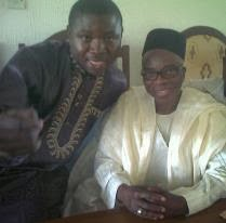 With Chief Jubril Martins Kuye(then Minister for Industry)
